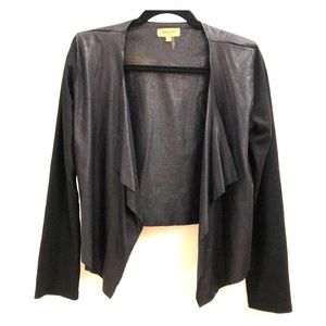 Beulah Style Black Faux Leather Jacket